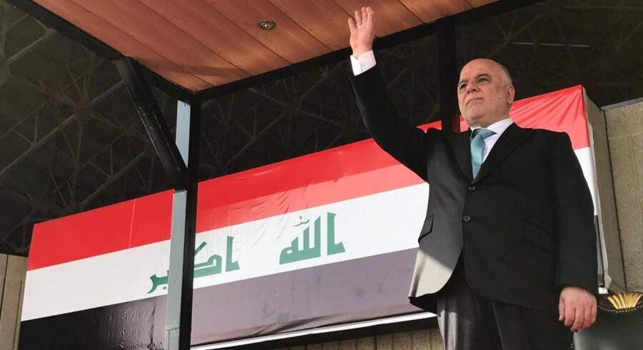 Iraks regering vil ikke tale med den regionale regering i Kurdistan om resultatet af mandagens afstemning om et uafhængigt Kurdistan, siger premierminister Haider al-Abadi (billedet). Reuters/Handout/arkiv