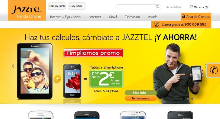 Det spanske bredbåndsselskab Jazztel overtages snart af franske Orange - men først, når der er solgt dele af forretningen fra. Jazztel-sagen er en af de telefusioner, som sammen med Telia/Telenor i Danmark afventer EU-Kommissionens endelige godkendelse.
