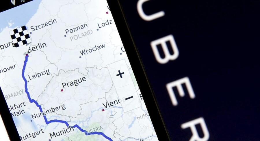 Også taxitjenesten Uber vil gerne have fingrene i Nokias digitale korttjeneste Here, som er sat til salg. Arkivfoto: Dado Ruvic, Reuters/Scanpix