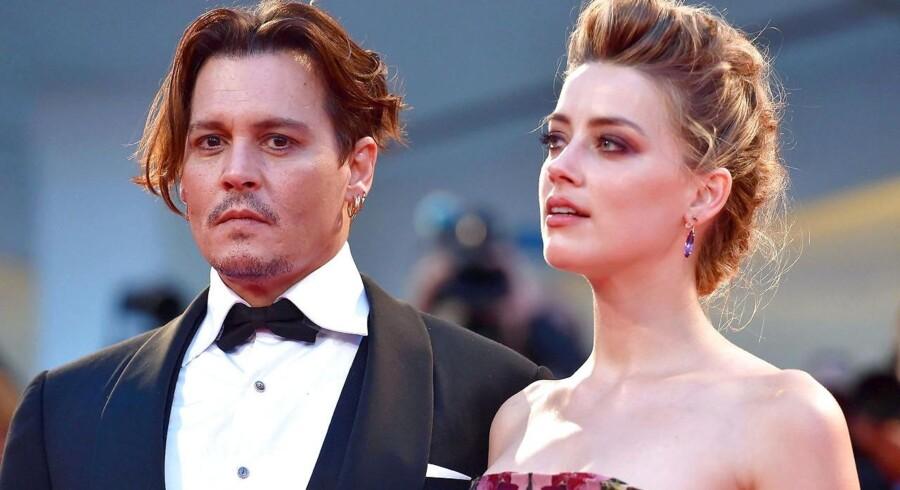 Amber Heard og Johnny Depp.