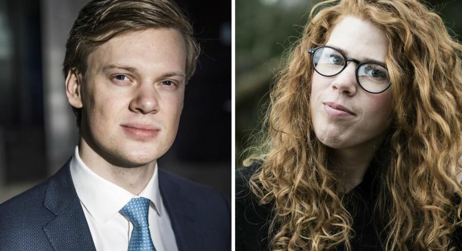 Morten Klinge og Cecilie Skjelmose er to af de mange, nyuddannede unge som søger job efter kandidaten.