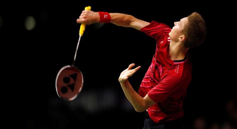 Viktor Axelsen er i VM-finalen.