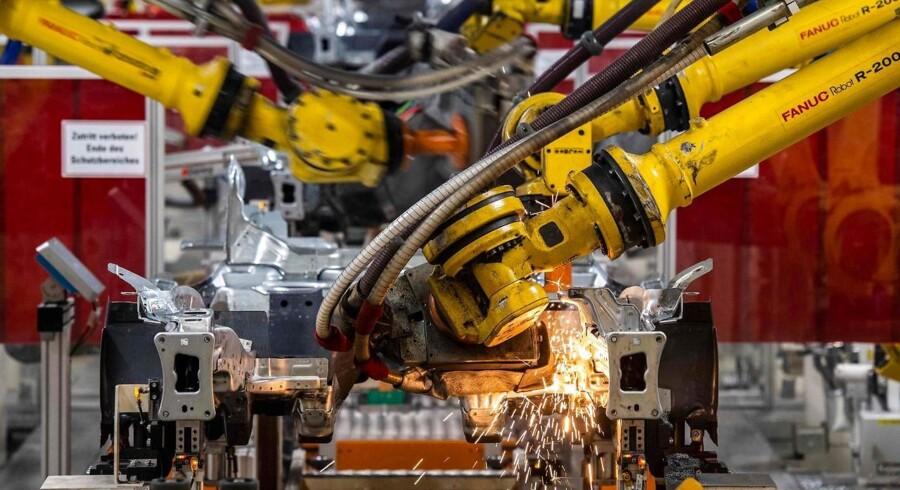 Erhvervstilliden i euroområdet falder, og især Tyskland skiller sig negativt ud.