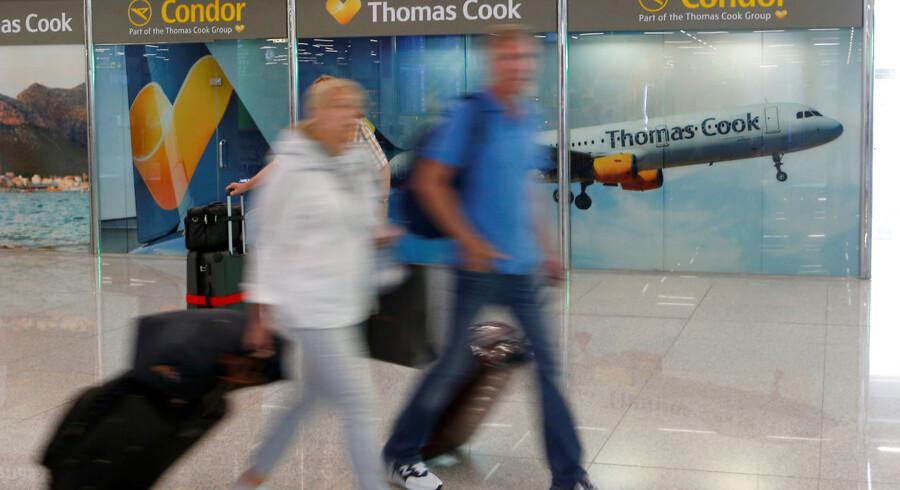 Selv om Thomas Cook – ejerselskabet bag Spies – har ansøgt om konkurs, er det ikke ensbetydende med, at den danske rejsearrangør også er konkurs, understreger kommunikationschefen i Spies. Dog har man valgt midlertidigt at stoppe for salget af rejser. Foto: Enrique Calvo/Reuters/Ritzau Scanpix