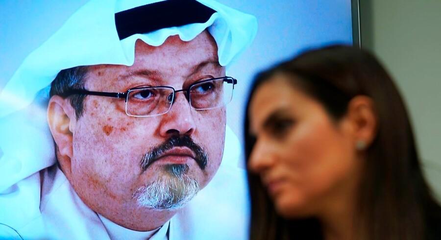 Sherine Tadros, lederen af Amnesty International i Amnesty Internationals FN-afdeling, taler under en konference i FN i anledning af etårsdagen for mordet på den saudiarabiske journalist Jamal Khashoggi.