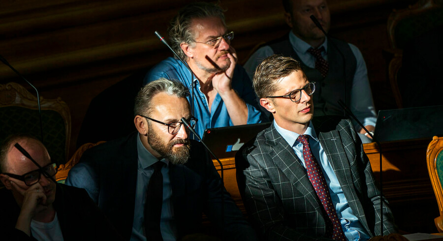 Folketingets åbningsdebat. Liberal Alliance - Alex Vanopslagh Folketingsmedlem og partileder, Ole Birk Olesen og Henrik Dahl.