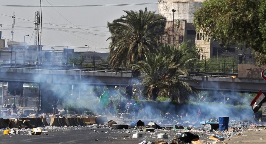 Demonstration i Iraks hovedstad, Bagdad.