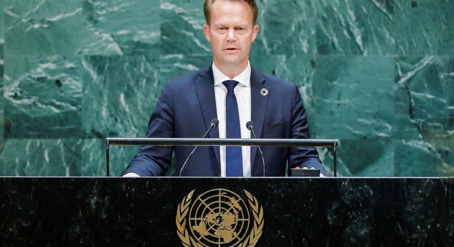 Danmarks udenrigsminister Jeppe Kofod er stærkt bekymret over meldingerne om en mulig tyrkisk militær operation i det nordøstlige Syrien. Arkivfoto: Eduardo Munoz/Reuters/Ritzau Scanpix