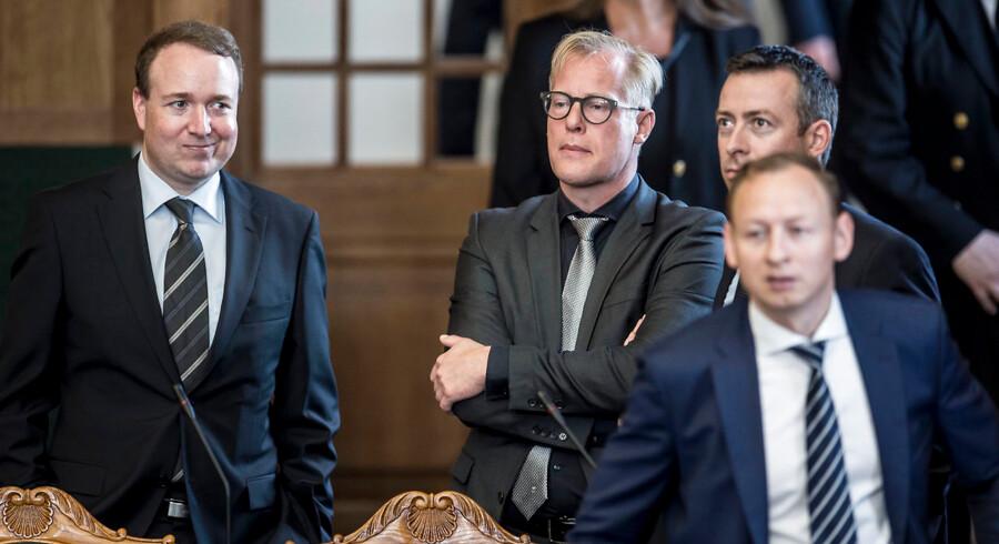 »Hvis vi skal sige, hvem der har hovedansvaret i konflikten, er der kun én, og det er Donald Trump,« siger Venstres udenrigsordfører, Michael Aastrup Jensen (til venstre i billedet, red).