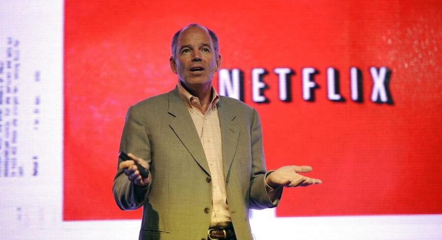 ARKIVFOTO: Netflix, der i dag er 124 milliarder dollar værd, kunne Blockbuster have købt for 50 millioner dollar i 2010, fortæller en af de to Netflix-stiftere, Marc Randolph (billedet), i en ny bog.