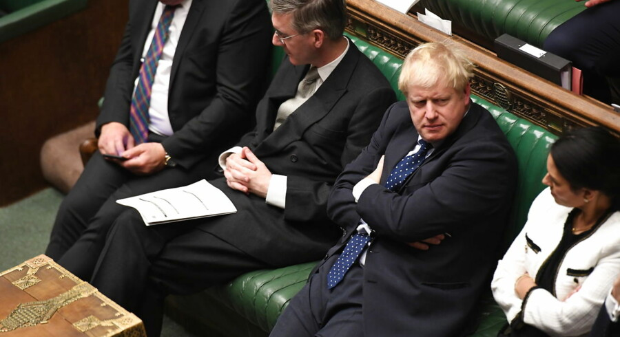 epa07921115 A handout photo made available by the UK Parliament shows the British Prime Minister, Boris Johnson (2-R), during a debate in the House of Commons in London, Britain, 14 October 2019. EPA/JESSICA TAYLOR / UK PARLIAMENT HANDOUT MANDATORY CREDIT: UK PARLIAMENT / JESSICA TAYLOR HANDOUT EDITORIAL USE ONLY/NO SALES HANDOUT EDITORIAL USE ONLY/NO SALES HANDOUT EDITORIAL USE ONLY/NO SALES