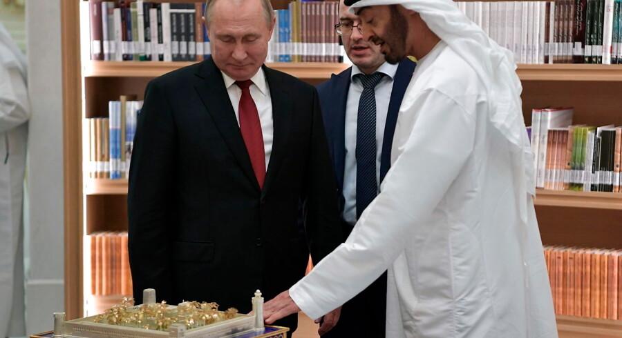Den russiske præsident, Vladimir Putin, har netop afsluttet en række officielle besøg i Mellemøsten, blandt andet i Saudi-Arabien og i De Forenede Arabiske Emirater. Foto: Alexey Nikolsky/EPA/Ritzau Scanpix