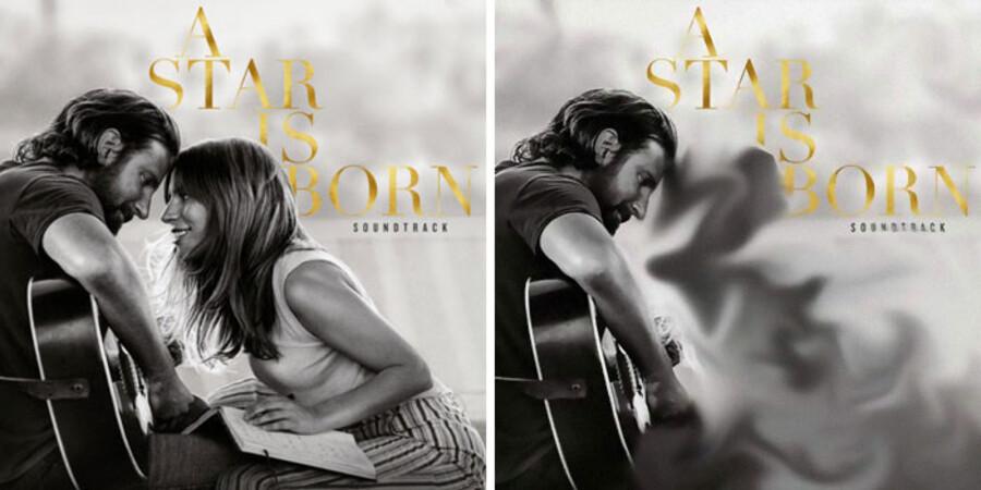 På nogle af forsiderne er det tydeligt at se, at der er tale om en redigering, som på dette med Bradley Cooper og Lady Gaga.