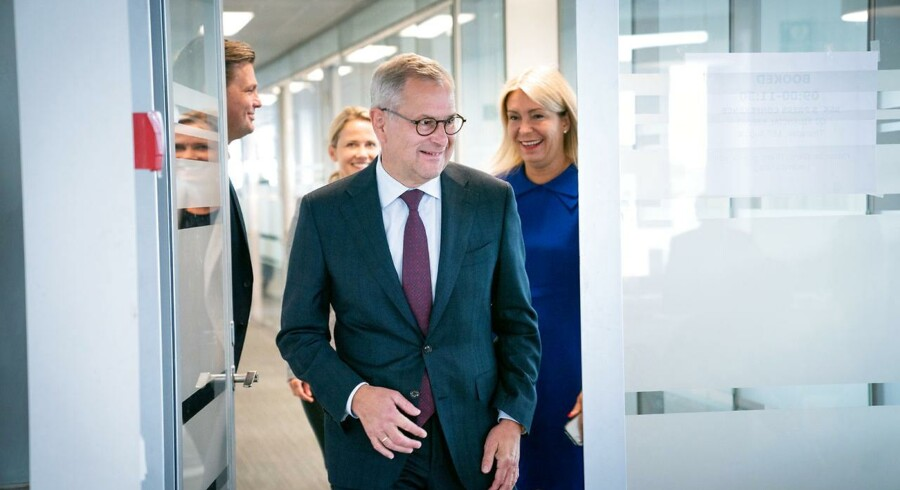 Søren Skou, topchef i A.P. Møller-Mærsk, har endelig grund til at smile lidt igen. Arkivfoto: Ida Marie Odgaard/Ritzau Scanpix