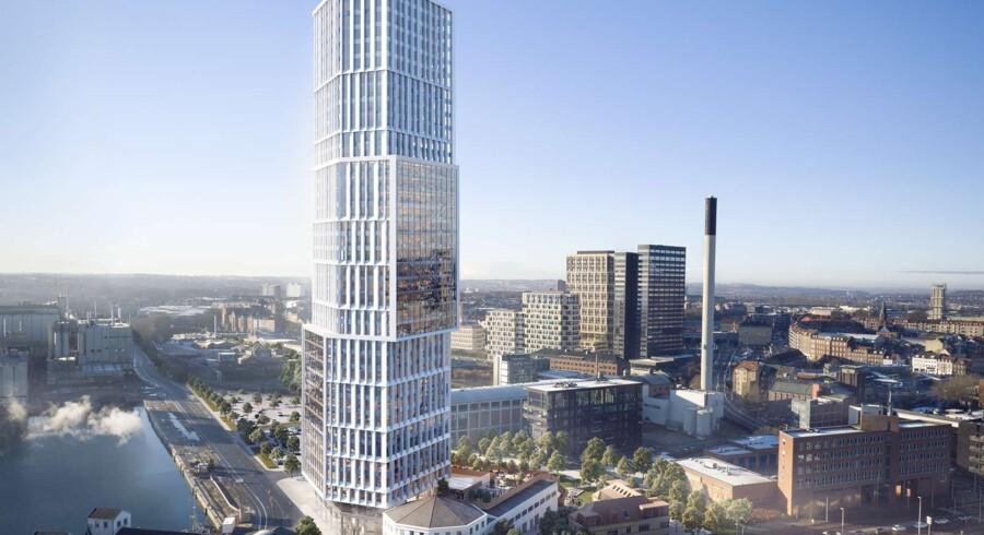 Mindet 6 er planlagt til 146 meter fordelt på 40 etager og et indvendigt areal på over 40.000 kvadratmeter.