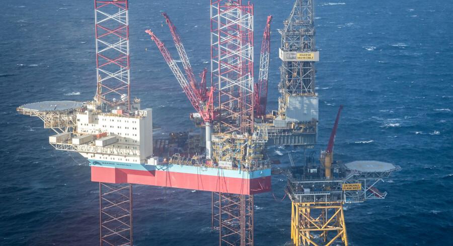 Maersk Invincible boreriggen i Nordsøen. Maersk Drilling har haft problemer på børsen og ryger nu ud af C25-indekset.