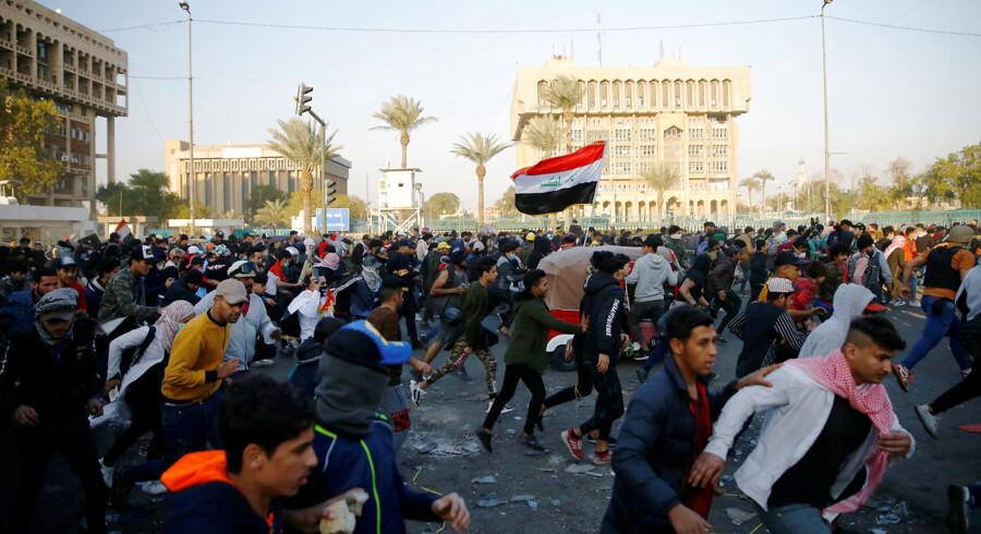 Arkivfoto: Irak har været præget af omfattende protester siden 1. oktober sidste år. Et stort antal irakere krævede ændringer i regeringssystemet.