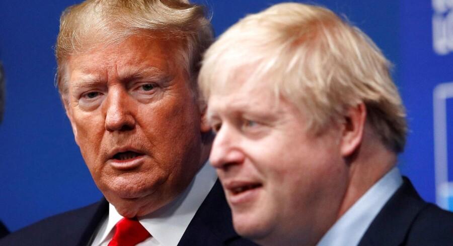 Storbritanniens premierminister, Boris Johnson, og USAs præsident, Donald Trump, har været i verbal slagudveksling om Huawei.