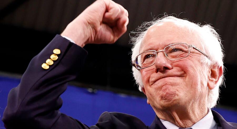 Arkivfoto: Som flere havde forventet, vandt Bernie Sanders valget i New Hampshire. Men kan det tælles som en rigtig sejr?