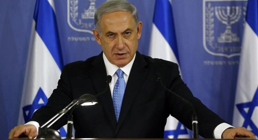 »Jeg mener, at Enhedslisten og venstrefløjen som nogle af de fremmeste kritikere af den israelske regering også må være de fremmeste forsvarere af jøder i Danmark og verden over. Netop fordi mange begår den samme fejl som Israels ambassadør Davy Antebi,« skriver Pernille Skipper. På billedet Israels premierminister, Benjamin Netanyahu. GALI TIBBON / AFP