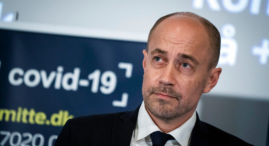Denmark's Minister of Health Magnus Heunicke speaks at a press briefing on the COVID-19 situation in Denmark in Copenhagen, Denmark, Tuesday, March 24, 2020. (Photo: Ida Marie Odgaard / Scanpix 2020)