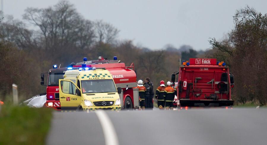 Arkivfoto: Antallet af dødsulykker, hvor ingen andre trafikanter var involveret, er stigende.