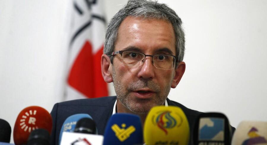 ICRC-driftschef Dominik Stillhart til pressemøde i Yemens hovedstad Sanaa.