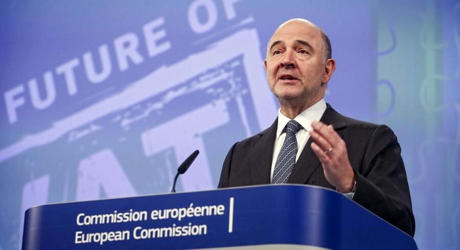 kommissionen vil indføre et nyt momssystem på tværs af EU, der blandt andet skal forhindre svindel og gøre livet lettere for små og mellemstore virksomheder. EPA/OLIVIER HOSLET