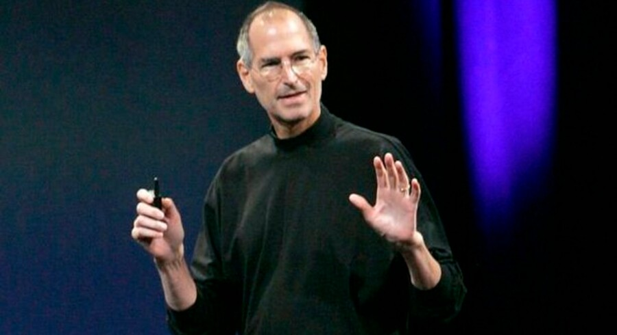 Apple-stifter Steve Jobs på scenen ved sidste års Macworld Expo i San Francisco. Foto: Robert Galbraith, Reuters/Scanpix