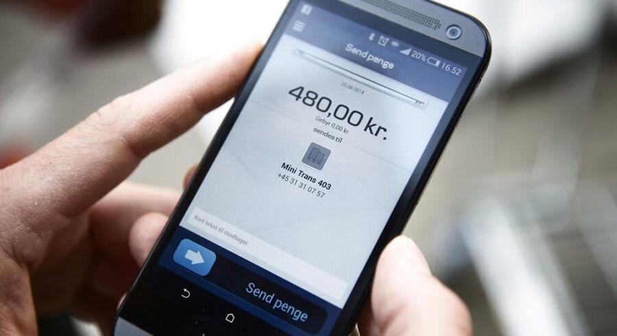 Mobilepay er i dag ejet fuldt ud af Danske Bank, men de tider kan snart være slut ifølge selskabets bestyrelsesformand, Jesper Nielsen. Arkivfoto: Simon Læssøe/Scanpix.