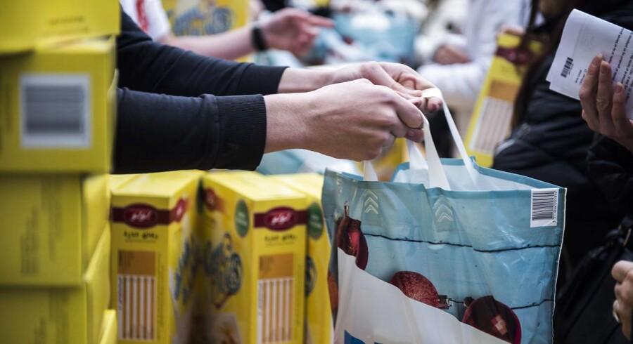 Seks af de største udbydere af julehjælp har fået 46.512 ansøgninger, hvilket er 536 flere end sidste år. (Foto: Ólafur Steinar Gestsson/Scanpix 2016)