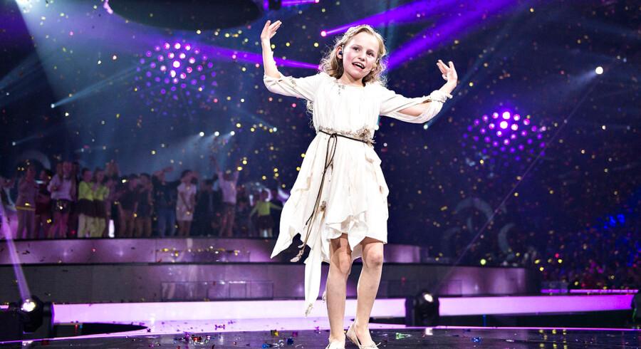 MGP2015 - Børnenes Melodi Grand Prix foregik lørdag aften i Gigantium i Aalborg. Vinder blev Flora Ofelia fra Rude med sangen : DuDuDu, her synger hun vindersangen