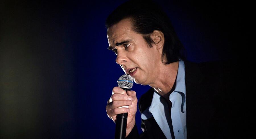 Nick Cave på scenen i et udsolgt Royal Arena fredag aften.