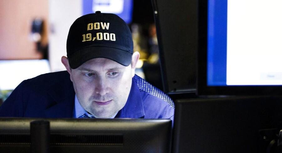 Arkivfoto. De amerikanske aktier fortsatte op, og rekorderne blev slået som perler på en snor tirsdag på Wall Street.