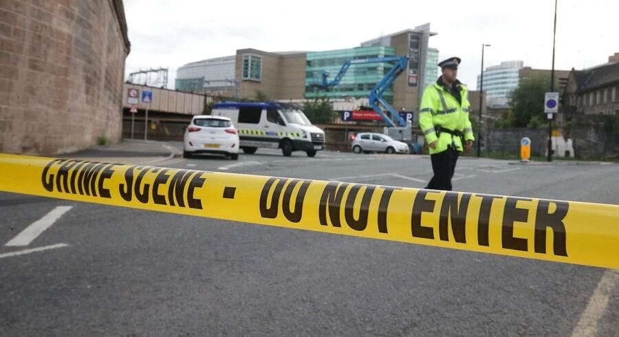 Vurderingen af terrortruslen mod Danmark påvirkes ikke af angreb i Manchester. Men PET følger situationen tæt.EPA/NIGEL RODDIS