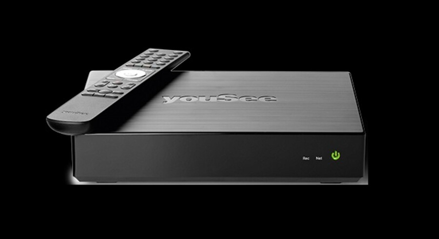 Omkring en tredjedel af YouSees TV-kunder har i dag en boks, og alle nytilkomne kunder kan ikke undslå sig at leje den. Fra 1. oktober stiger prisen. Foto: YouSee