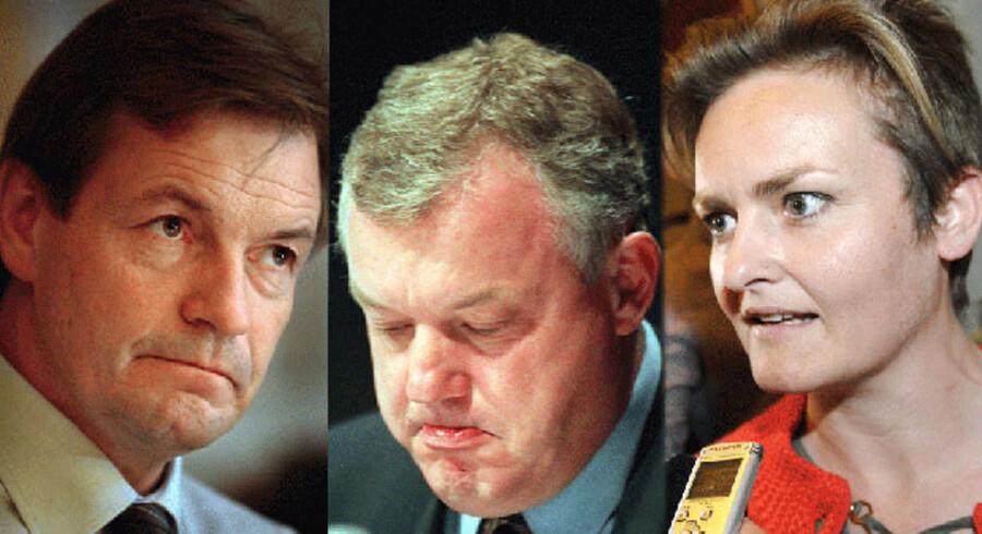 Bendt Bendtsen (K), Hans Engell (tidl. K) og Pernille Rosenkrantz.Theil (dengang EL, i dag S) er blandt politikerne, der har undskyldt tidligere handlinger i deres politiske liv.