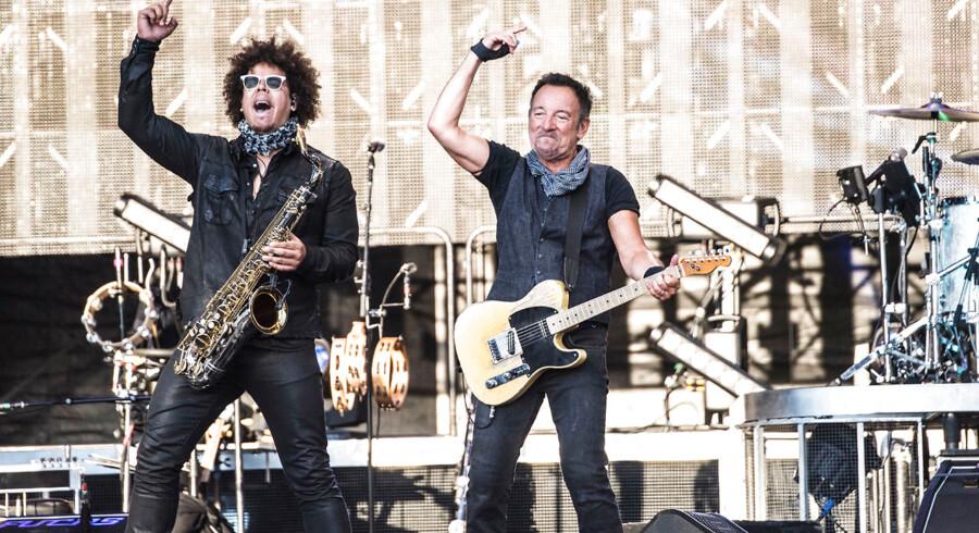 Bruce Springsteen and the E Street Band spiller i et udsolgt Casa Arena i Horsens for 30.000 mennesker.. (Foto: Helle Arensbak/Scanpix 2016)