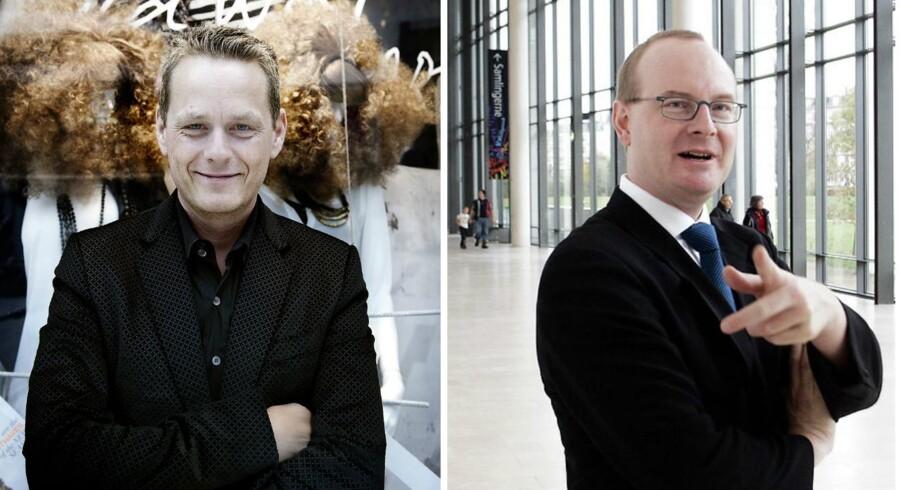 De to danske danske forfattere Martin Lindstrøm (til venstre) og Martin Roll (til højre).