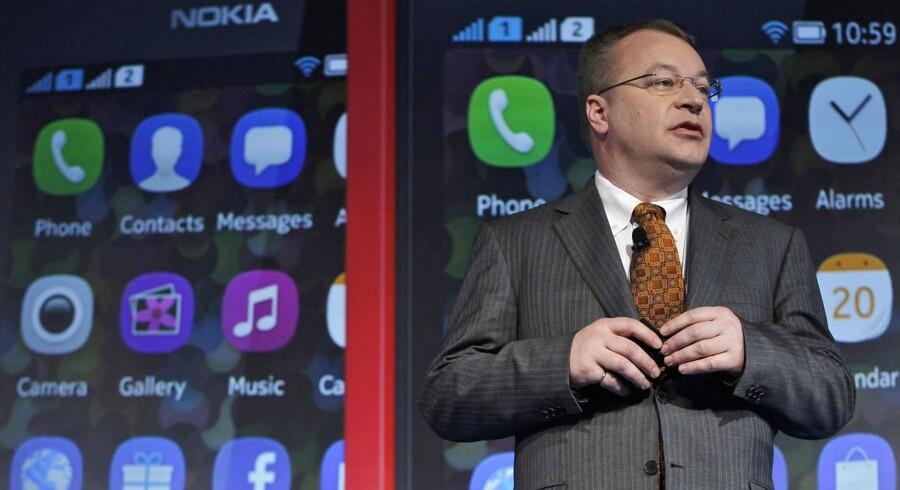 Nokias topchef, Stephen Elops skyhøje fratrædelse vækker anstød i Finland, fordi han fortsætter i jobbet, bare hos Microsoft i stedet. Arkivfoto: Anindito Mukherjee, Reuters/Scanpix