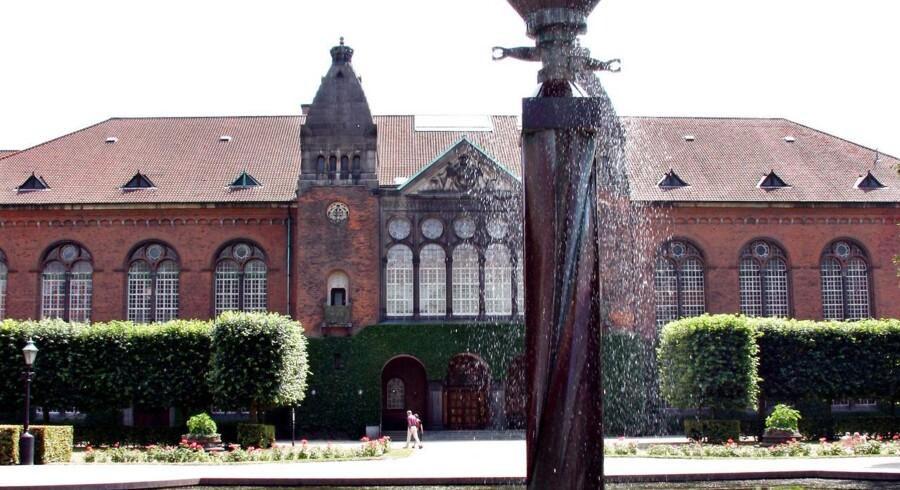 Det Kongelige Biblioteks Have i Københavns Centrum.