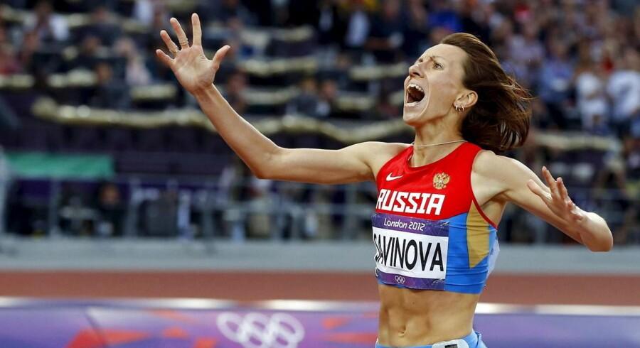 Russiske Mariya Savinova vandt kvindernes 800 m ved OL i London i 2012. Russiske atleter er nu af WADA blevet afsløret i systematisk dopingmisbrug godt hjulpet på vej af deres nationale forbund.