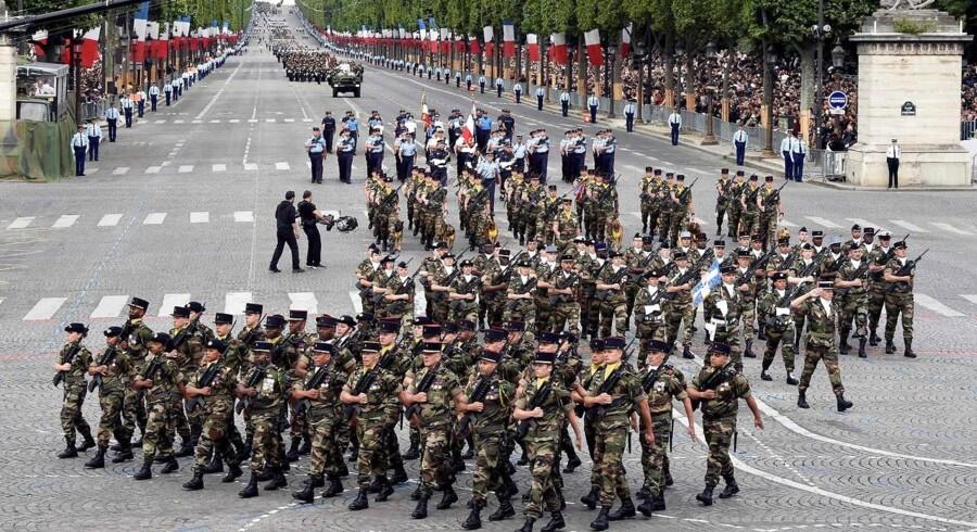 Frankrig på Bastilledagen.