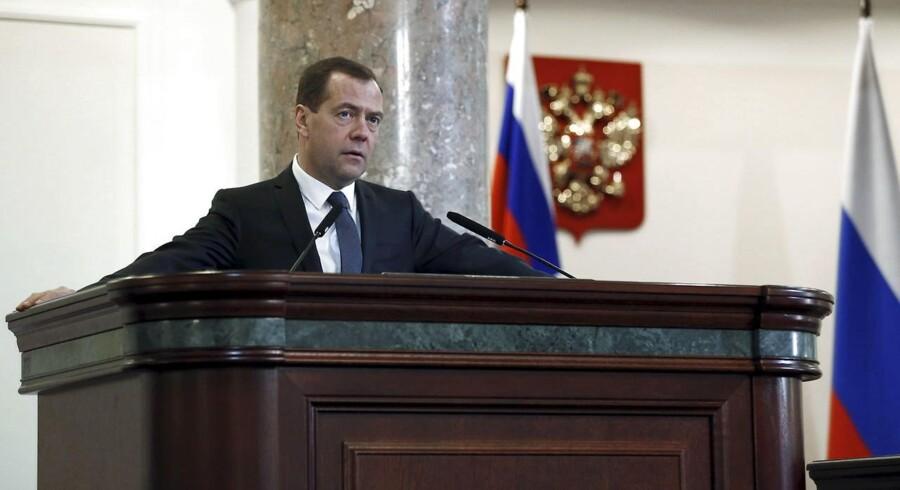 Rusland premierminister Dmitrij Medvedev.