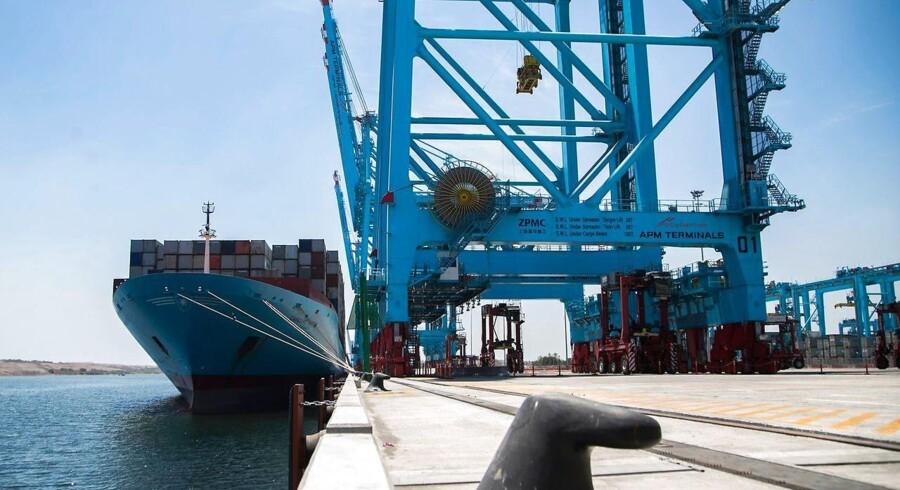Containerskibet 'Caroline Maersk'.