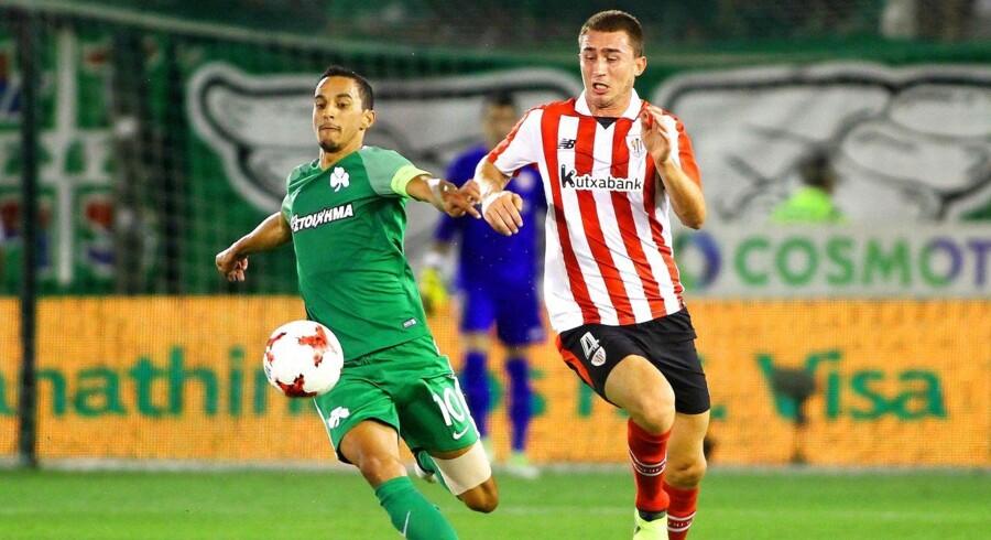 FCK er tæt på at hente den græske midtbanespiller Carlos Zeca (til venstre) i Panathinaikos.
