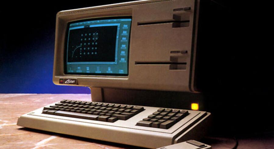 Apple var med til, at definere den personlige computer, som vi kender den i dag. Her ses modellen Lisa som kom først i 1980erne.