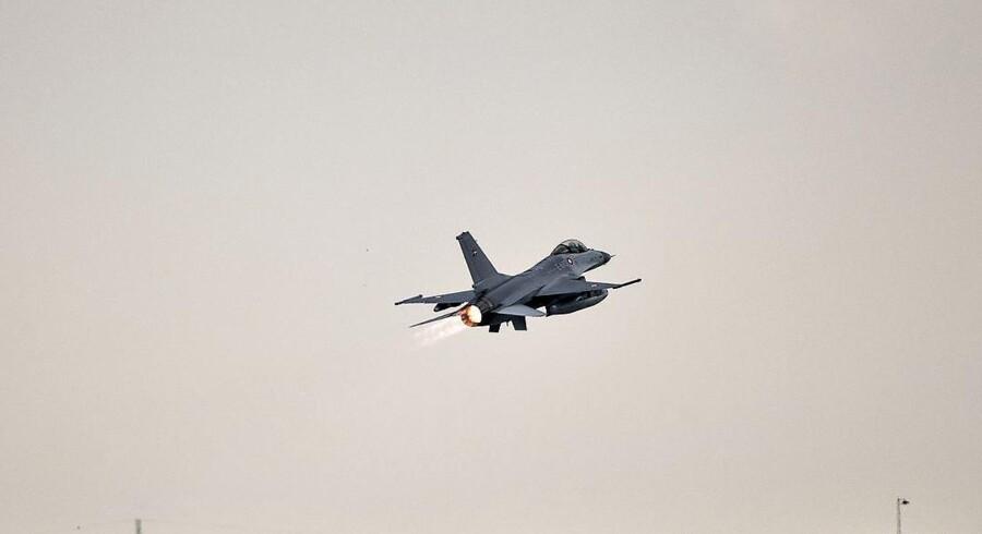 Danske F-16-fly har blandt andet hjemme på flybasen.