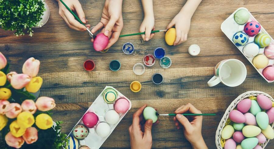 Stockfoto: I påskeferien kan man trygt spise blødkogte æg til morgenmad og puste æg, som kan males og bruges til påskepynt.