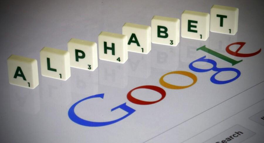 Alphabet skal være navnet på Googles nye moderselskab, men tyske BMW ejer rettighederne til navnet, der bruges af et datterselskab. Foto: Pascal Rossignol, Reuters/Scanpix